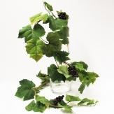 Girlande - Weinlaubgirlande mit Weintrauben 200cm
