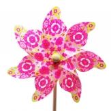 Windmühle rosa mit Blumen Ø22cm 1Stk