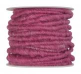 Wollschnur Wollband altrosa 5mm10m