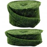 Wollband Lehner Wolle grün changiert in 2 Größen
