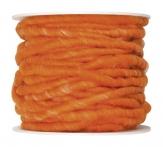Wollschnur Wollband orange 5mm10m