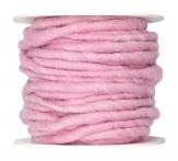 Wollschnur Wollband rosa 5mm10m