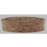 Wollband Lehner Wolle taupe 7,5cm5m