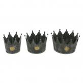 Zinktopf Krone grau in drei Größen