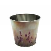 Zinktopf Lavendel 10x12cm 1Stk