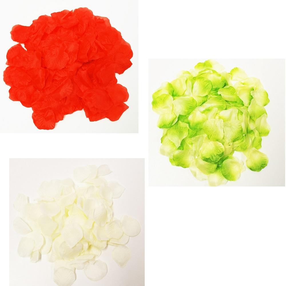 seidenblumen k nstliche rosenbl tter in drei farben 144stk g nstig kaufen. Black Bedroom Furniture Sets. Home Design Ideas