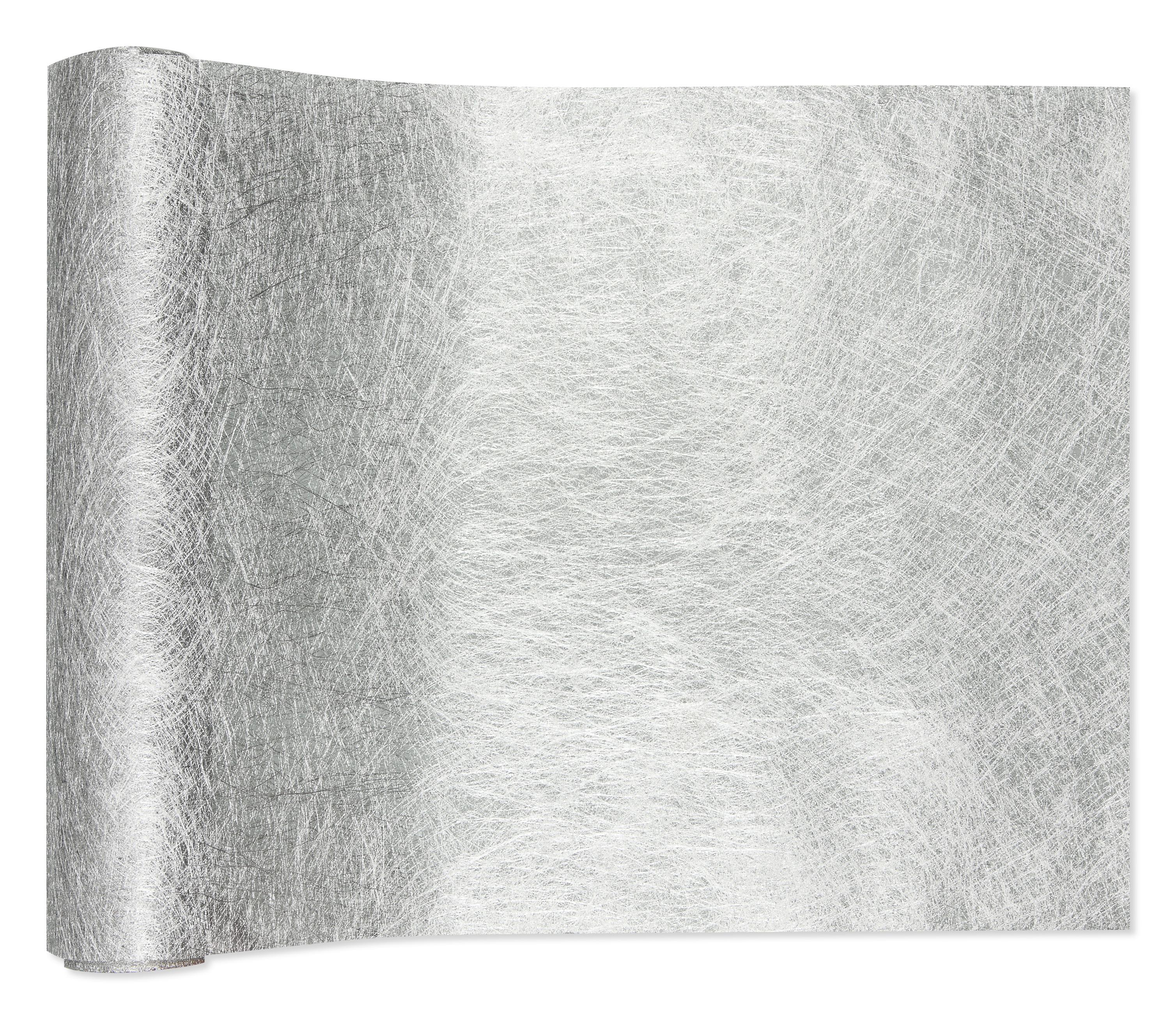 deko vlies in silber 24cm4m 1stk g nstig kaufen. Black Bedroom Furniture Sets. Home Design Ideas