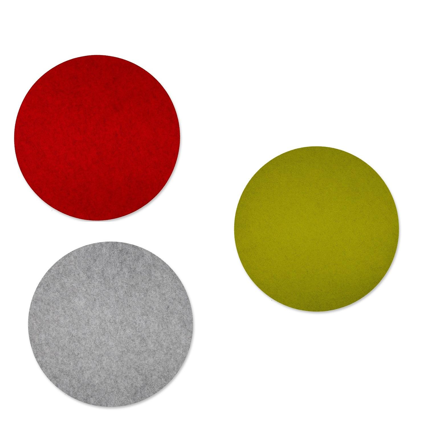 filz tischset rund 40cm in drei farben 4stk g nstig kaufen. Black Bedroom Furniture Sets. Home Design Ideas