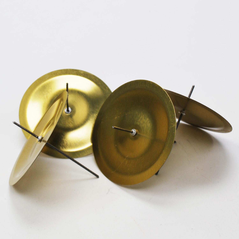 kerzenhalter zum stecken in gold 6cm 4stk g nstig kaufen. Black Bedroom Furniture Sets. Home Design Ideas